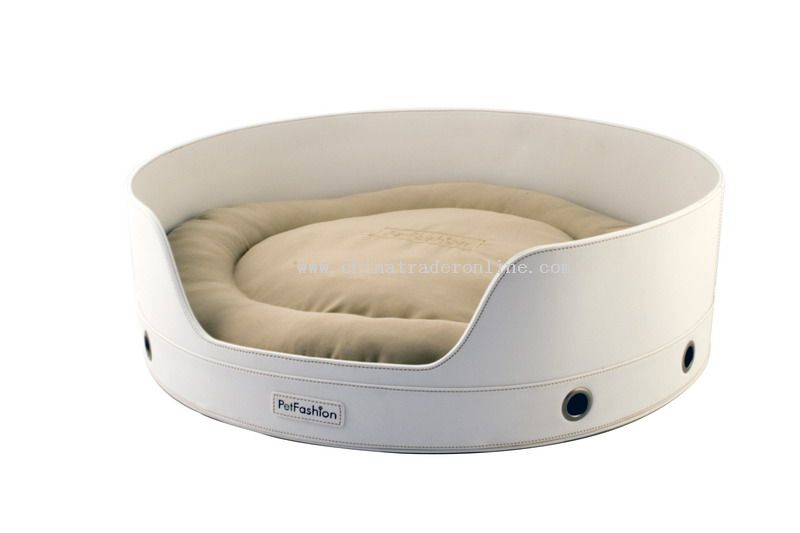 leather pet bed