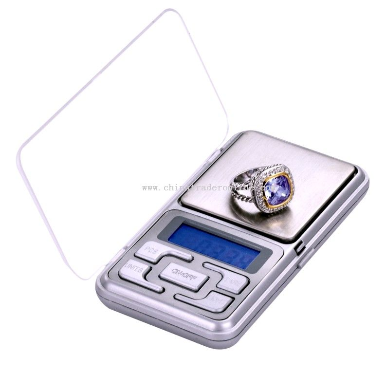 automatic zero resetting pocket scale