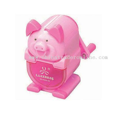 Pig pencil sharpener