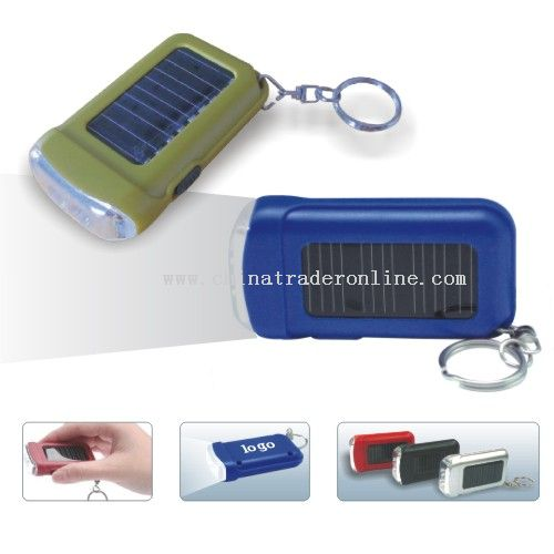 Solar keychian with light