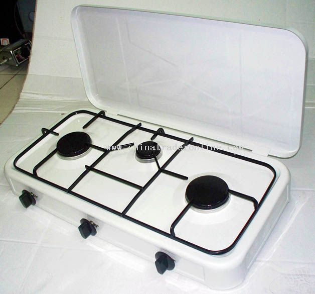 Three burnre gas stove