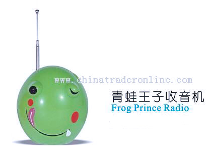 Mini Portable Cartoon Frog Radio