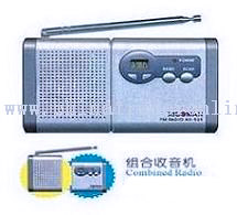 Mini Portable Desktop Clock FM Auto Scan Radio