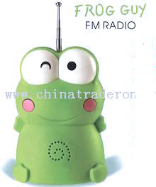Mini Portable Cartoon Smiling Frog Radio