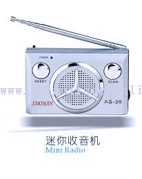 Mini Portable Desktop Light Radio