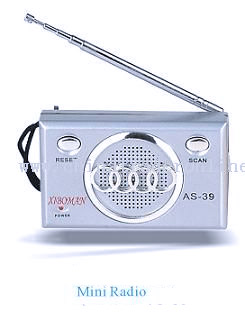 Mini Portable Desktop Radio with Flashlight