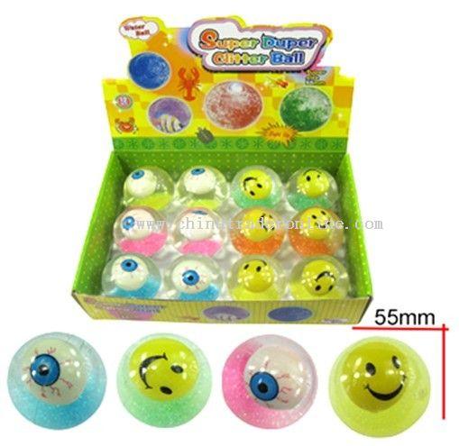 Glitter ball,bouncing ball