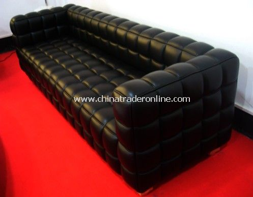 Joseph Hoffmann Kubus leather Sofa