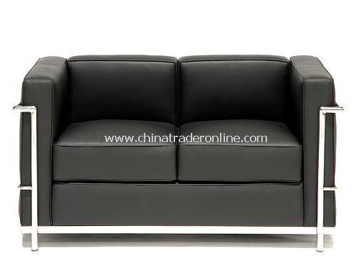 LC2 Petit Comfort Modern Classic Leather Sofa