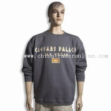 Mens Cotton Sweater with Rib Cuff