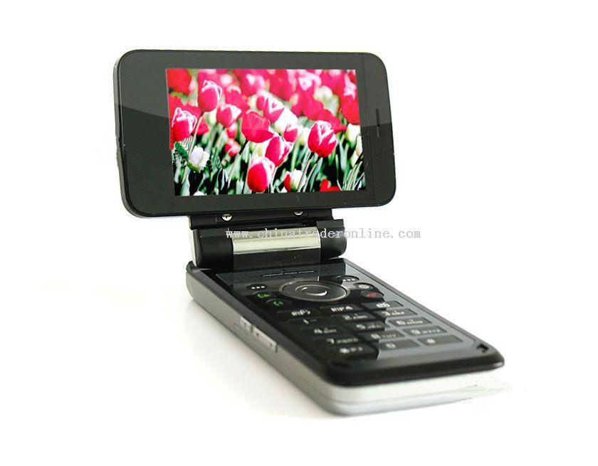 Revolving Screen Tri-Band Dual Sim TV Mobile Phone