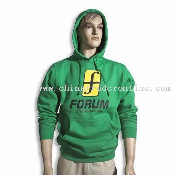 Mens Cotton Hoody with Printed Logo on Front
