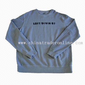 Mens Cotton Single Jacquard Twill Fabric Sweatshirts