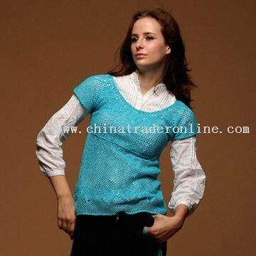 Womens Hand-crocheted Sweater