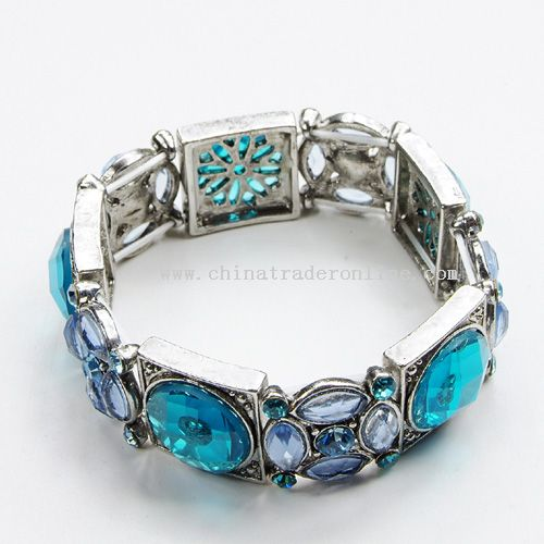 Alloy &Stone Bracelet from China