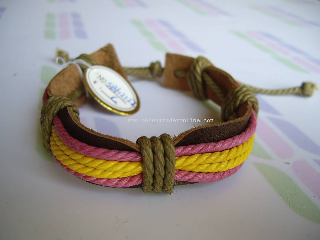 Leather Bracelets http://www.chinatraderonline.com/Bracelet/Leather-Bracelets/