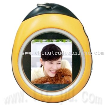 1.5 Inch Mini Bettle Keychain Digital Photo Frame with Clock and Calendar