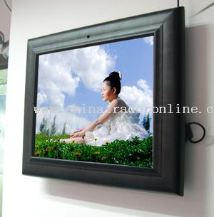 14 inch Digital Advertising Player in Wooden Frame