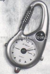 Zinc Alloy Clip Carabiner Watch
