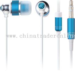Metal Earphone with Crystal from China