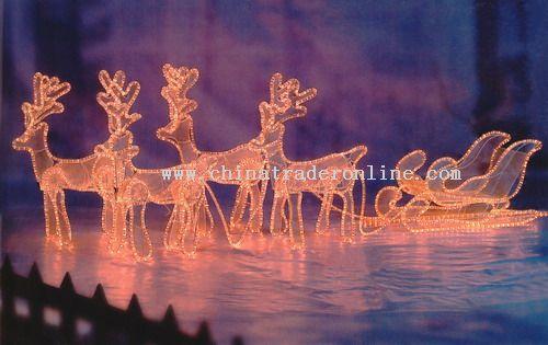 3D Rope Light Motif Christmas Light