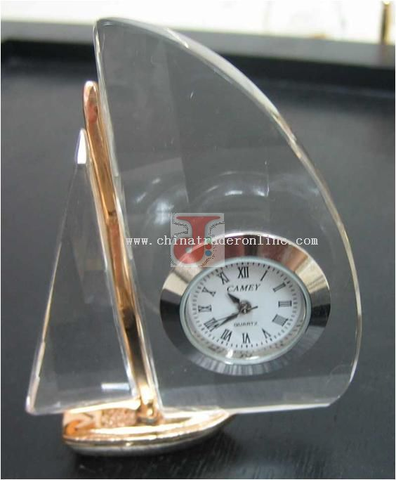 Mini Crystal Clock -Crystal Sails