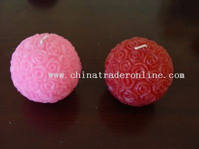 Valentine Flower Ball Candle