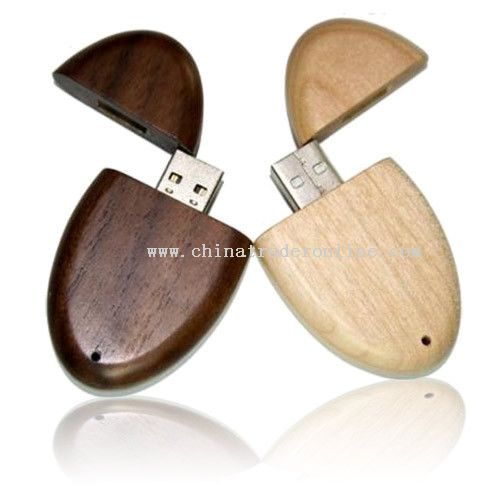 Rounded Wooden USB Drive