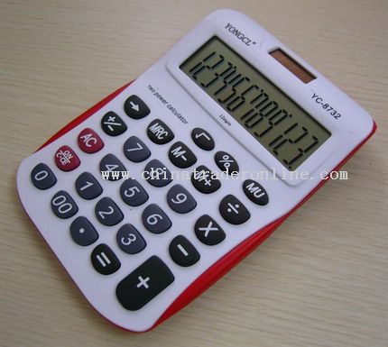 12 Digits Desktop Gift Promotion Solar Power Calculator