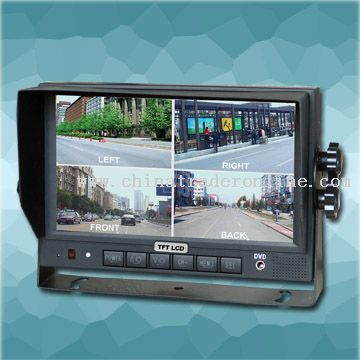 7 Inch Color LCD Monitor with Built-in Quad