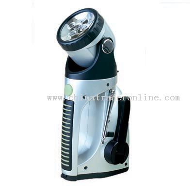 Dynamo Emergency Wind Up LED Torch Flashlight Lantern Radio Headlamp Lighting Nightlight