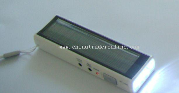 LED Solar Torch with Fm Radio