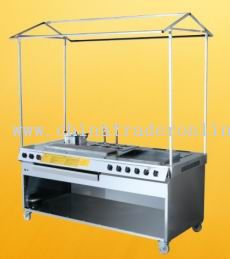 Outdoor BBQ Foodservice Cart