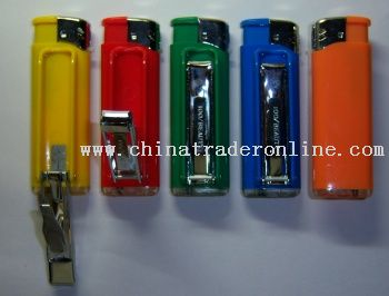 Electronic Gas Lighter with Nail Clippers