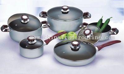 10pcs Soft Anodized Cookware Set