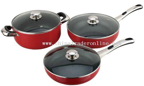 6 PCS Aluminum Cookware Set