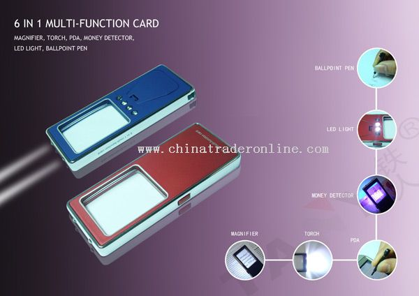 6 in 1 multi-function card