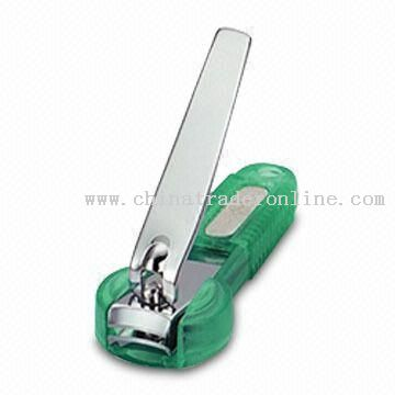 Chrome-plated Nail Clipper with Clipping Catcher