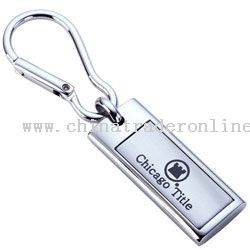 Chrome Accent Carabiner Keytag