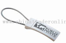 Flat Rectangular Cable Keytag from China