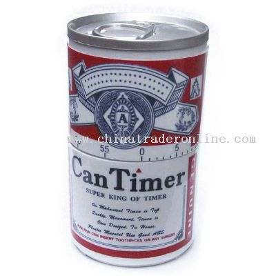 can-shaped timer