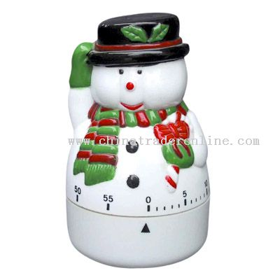christmas snowman shaped timer