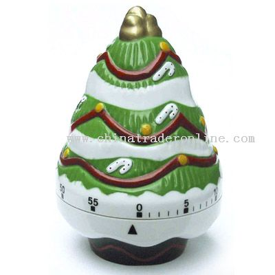 christmas tree shaped timer