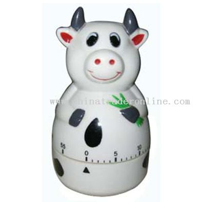 dairy cattle shaped timer
