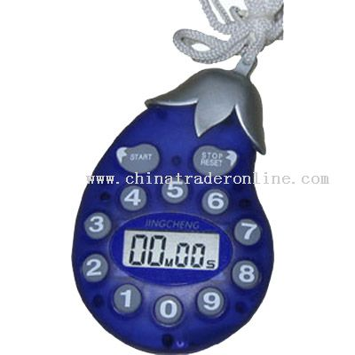 eggplant-shaped timer