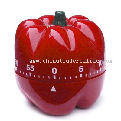 green pepper shaped timer from China