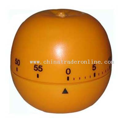 orange-shaped timer