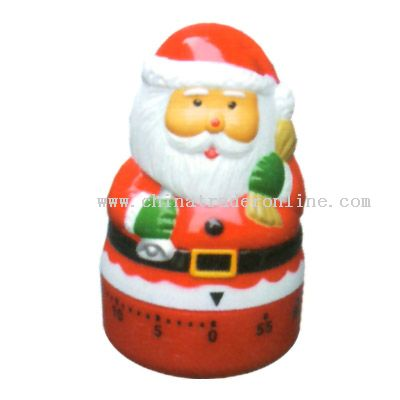 santa clause shaped timer