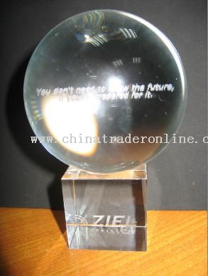 Laser-Engraved Crystal Ball