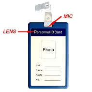 ID card hidden video recorder